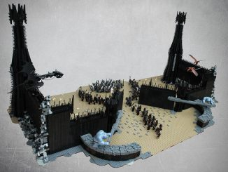 MOC van de maand maart is: Battle at the Black gates van Brohirrim!